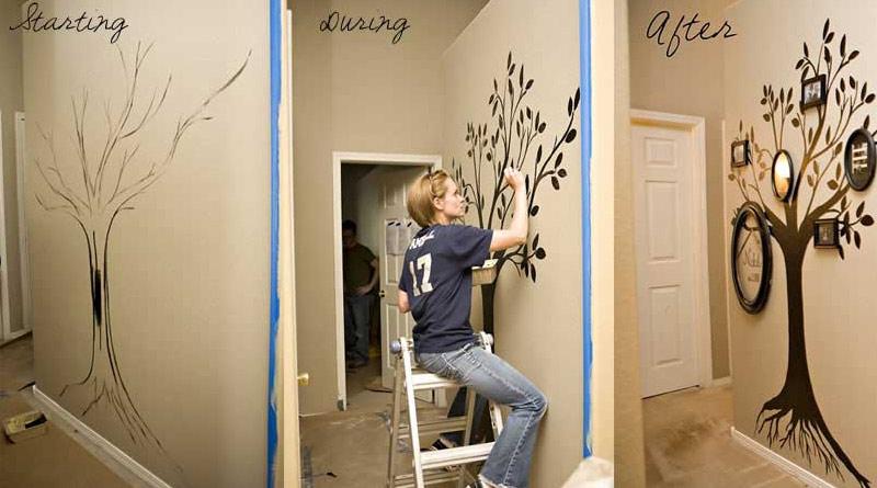 Как сделать принты на стене своими руками