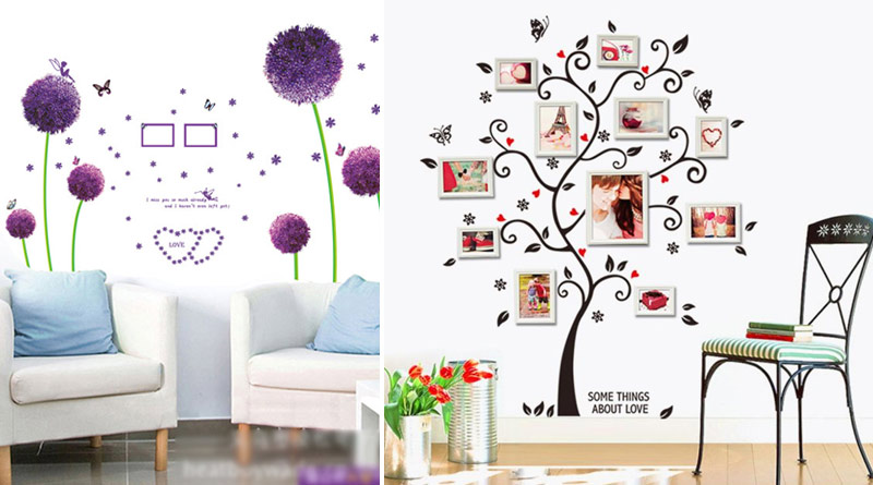 Цветные наклейки для стен