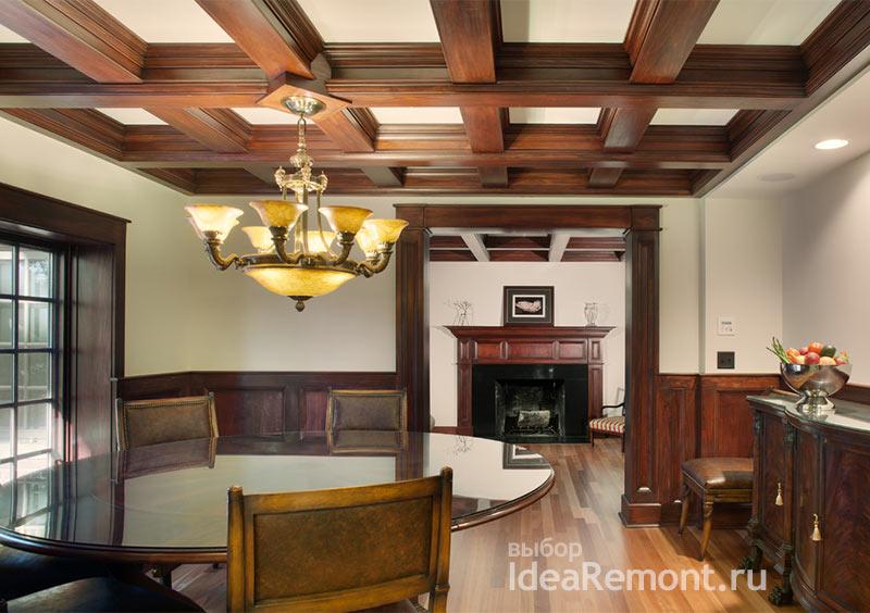 Пустотелые деревянные балки для классических интерьеров