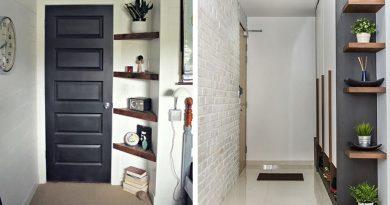 Дизайн коридора - строим угловой стеллаж