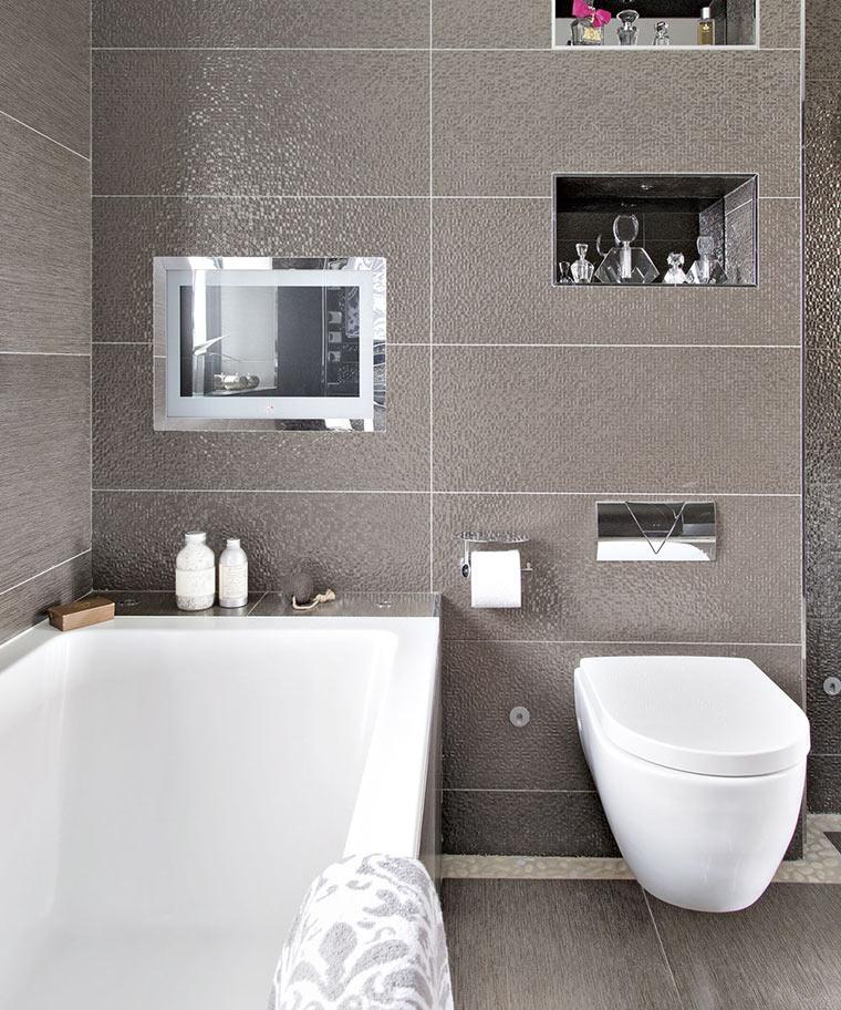 Дизайн стен в ванной - ниши