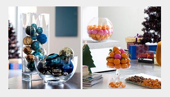 декоративные новогодние вазы