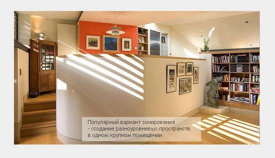 Подиум для разделения помещения
