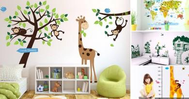 Дизайн детской комнаты – принты и наклейки на стену