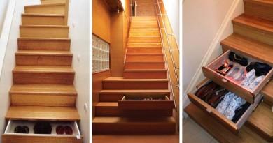 Лестница как место для хранения