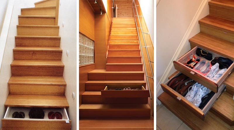 Места хранения под лестницей