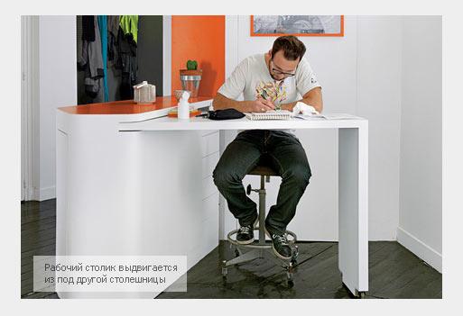 Рабочий стол для интерьера маленькой квартиры