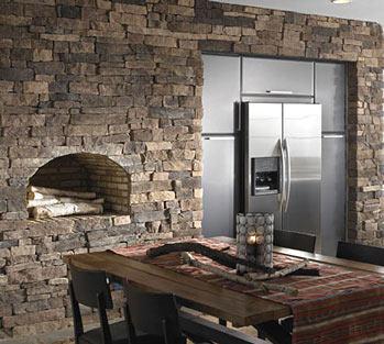 кухонный шкаф в нише