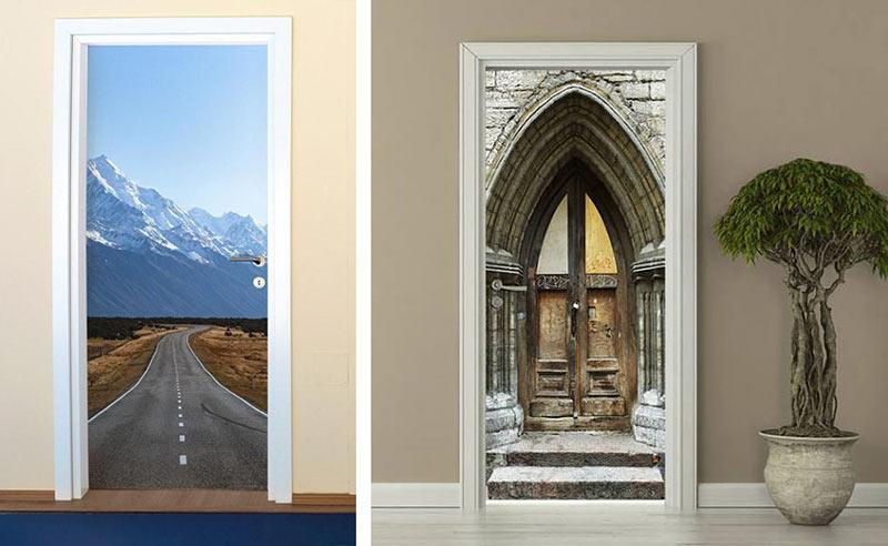 Фотообои для имитации пространства за дверным проемом