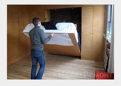 Встроенный шкаф с кроватью