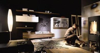 Черный дизайн интерьера