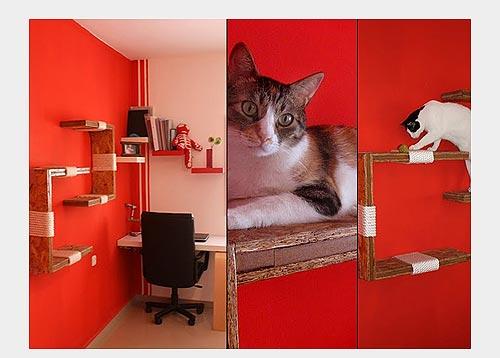 Полки-когтеточки для кошек
