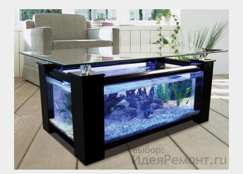 Напольный аквариум в квартире