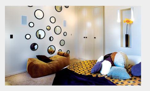 увеличить комнату с помощью освещения и зеркал