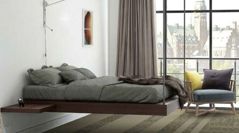 Кровати двуспальные: подвесной вариант