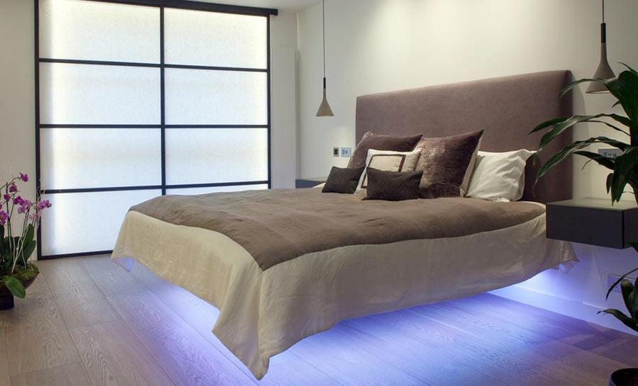 Подвесная кровать с потайной подсветкой