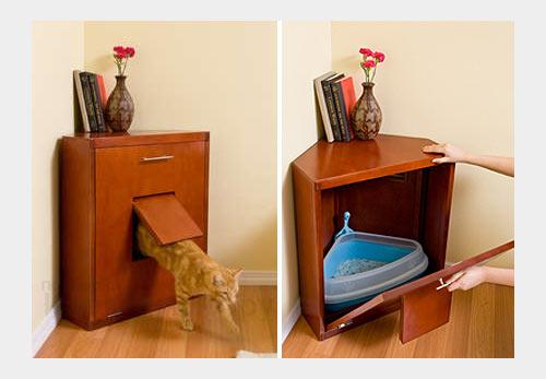 На фото: угловая мебель для кошки