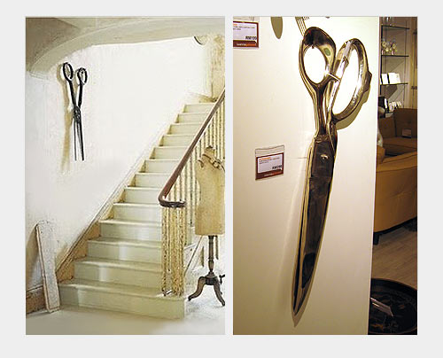 На фото: удивить гостей вашей квартиры можно странными огромными предметами