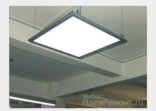 На фото: промышленные светодиодные панели освещения