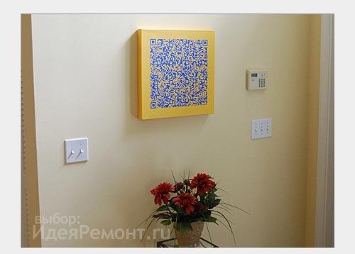 Штрих код как декор стен