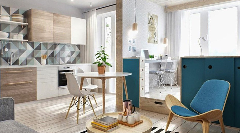 Дизайн малогабаритных кухонь - как обустроить (фото)