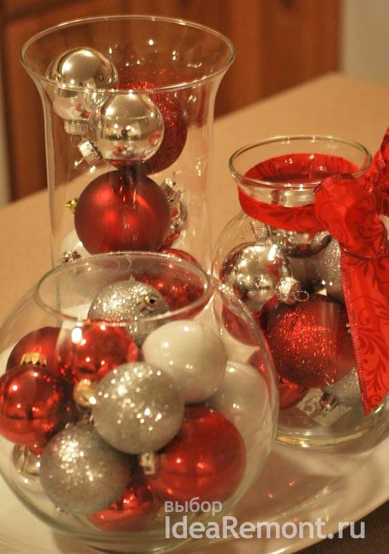 Шары в вазах - простой и классный новогодний декор