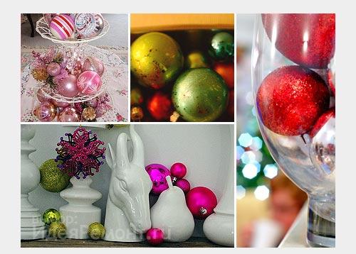 На фото: шары в вазах отлично украсят дом на Новый год