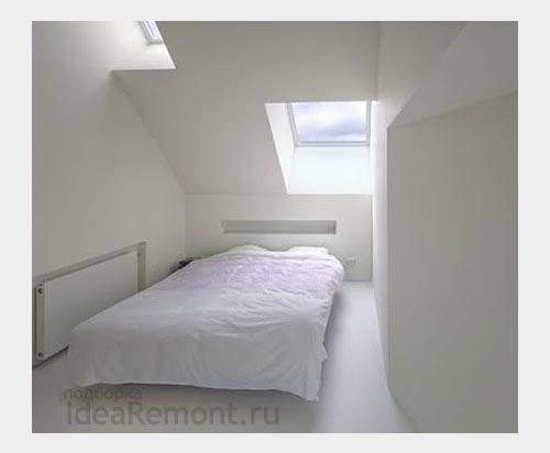 На фото: аскетизм и идея белой спальни