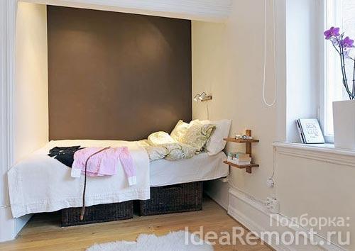 Использование ниш в интерьере квартир. Кровать в нише