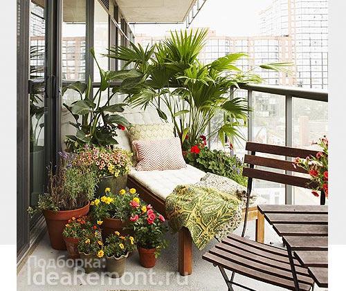 Простая идея дизайна балкона. Фото