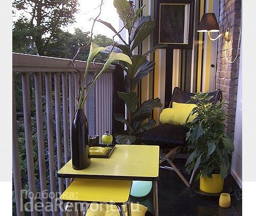 Оформление балкона в одной цветовой гамме