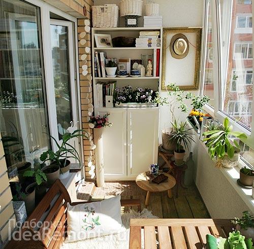 На фото: дачный мотив в дизайне ...: idearemont.ru/remont-balkona-foto