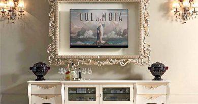 Телевизор в декоративной раме - отличная идея для интерьера