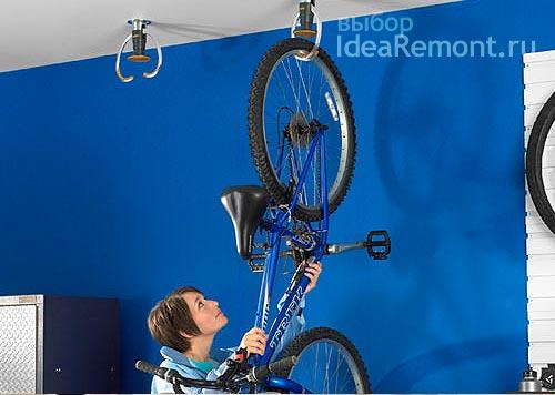 Идея хранения велосипеда в квартире