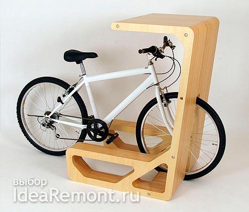 Идея как хранить велосипед в квартире