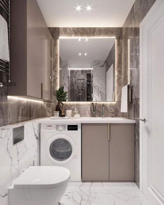 Как лучше установить стиральную машину в ванную комнату