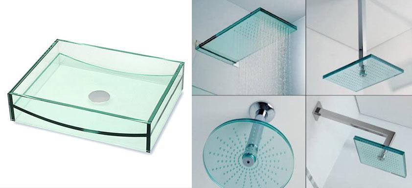 Стекло в дизайне ванной комнаты