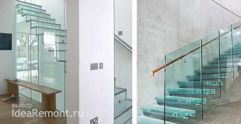 На фото: дизайн лестниц - стекло в конструкциях лестниц