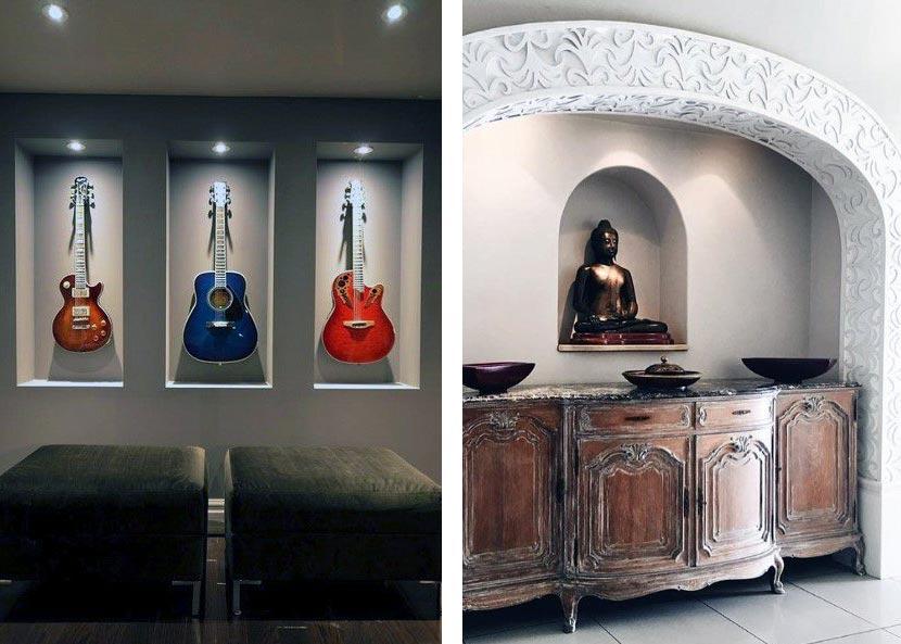 Декоративная ниша для презентации предметов искусства или памятных сувениров
