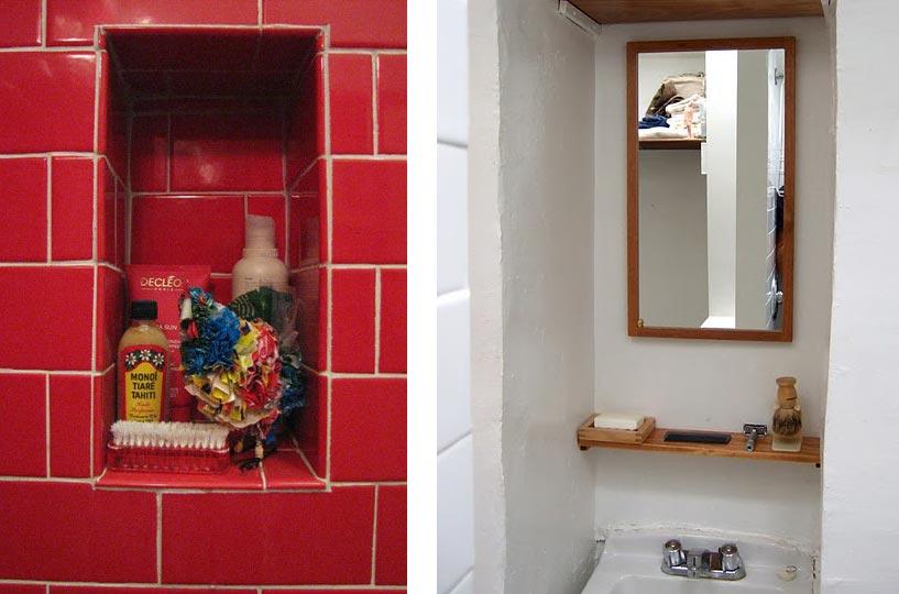 Полезные ниши в ванной комнате