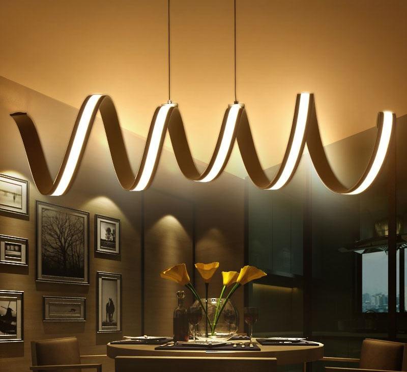Спиралевидный подвесной светильник