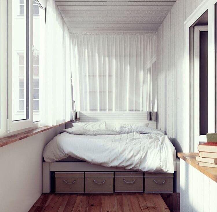 Спальное место в лоджии