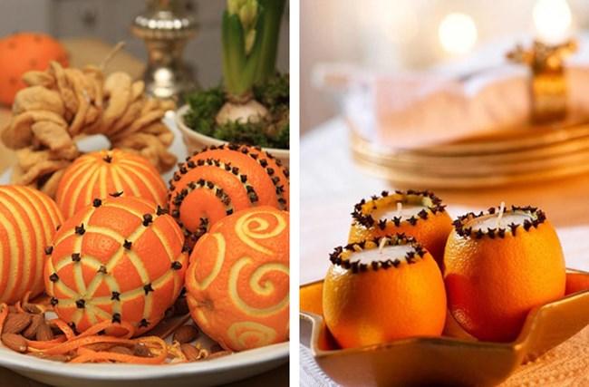 Новогодний декор из апельсинов