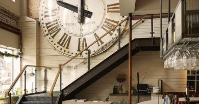 Большие часы в интерьере