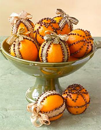 Помандеры из апельсинов
