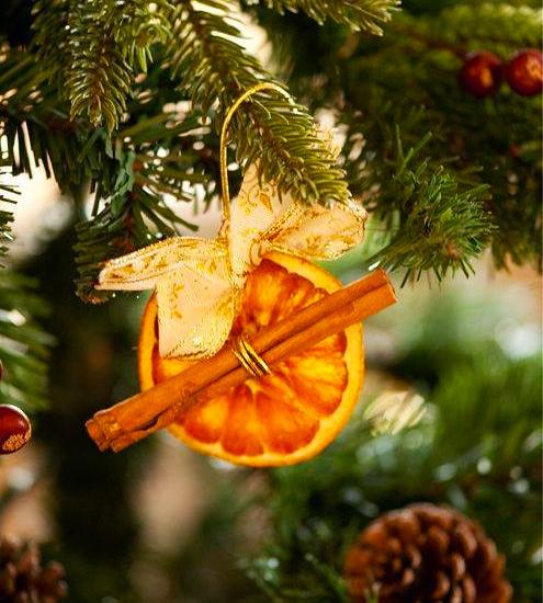 Украшение из сушеных апельсинов на елку