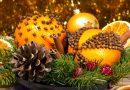 Новогодние украшения из апельсинов и гвоздики: помандер, гирлянда, елка
