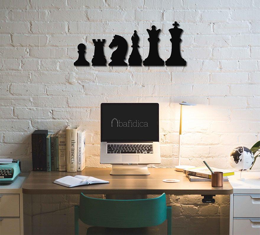 Настенный декор - плоские шахматные фигуры